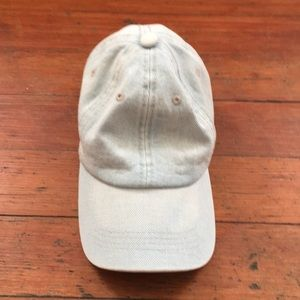 Plain light denim hat
